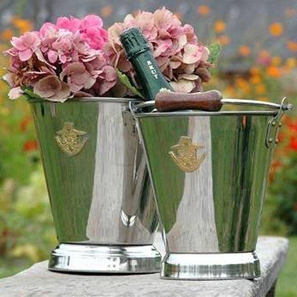 boheme garden exklusive gartenwerkzeuge und accessoire eimer seau inox. Black Bedroom Furniture Sets. Home Design Ideas